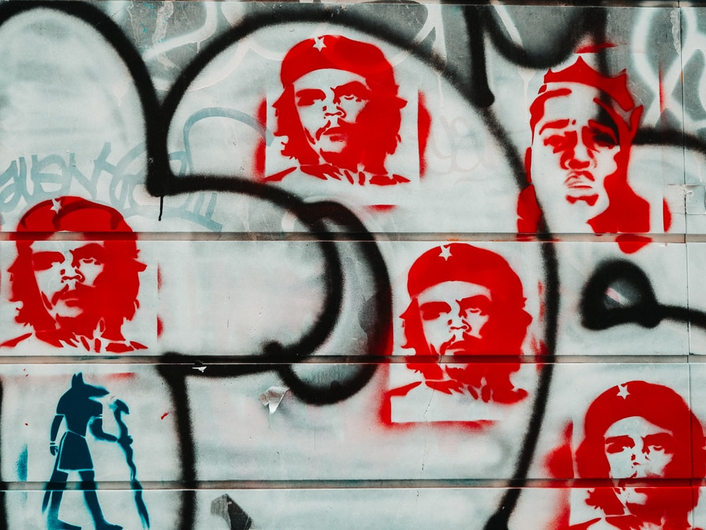Che Guevarra painted wall