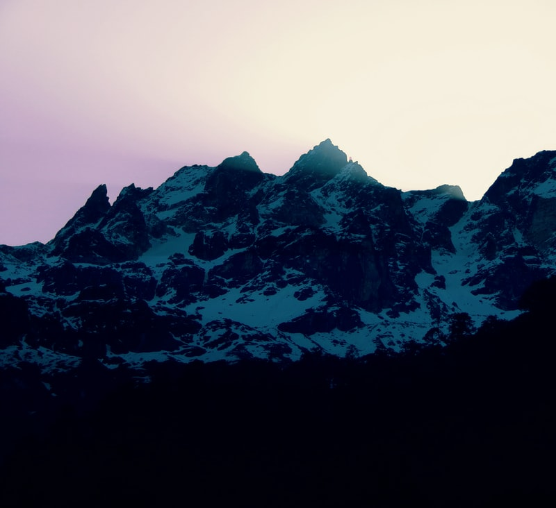 Mountains in a sunset