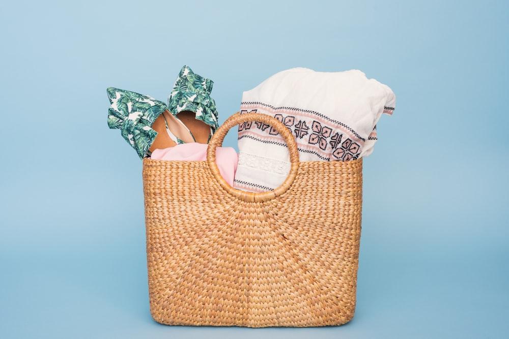 towels in basket