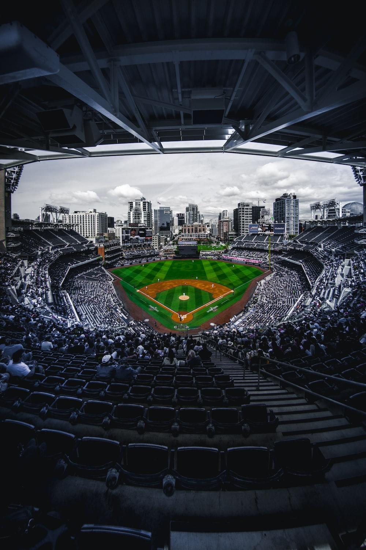 selective photography sports stadium