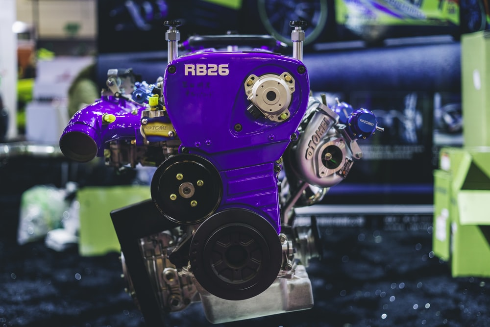purple RB26 machine