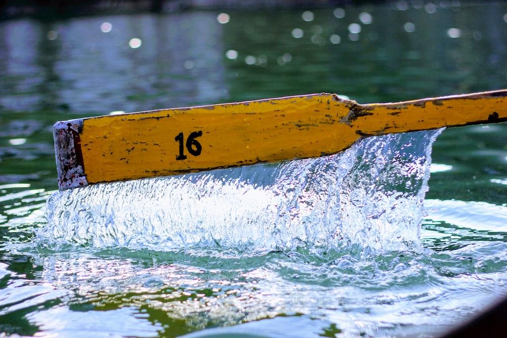 brown boat paddle