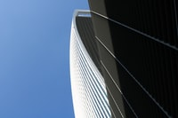 Shot on a beautiful day in London looking up at 20 Fenchurch Street (Walkie Talkie Building).