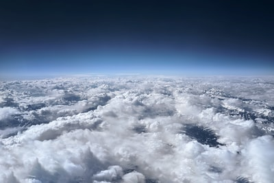 aerial photography of clouds formation during daytime earth zoom background