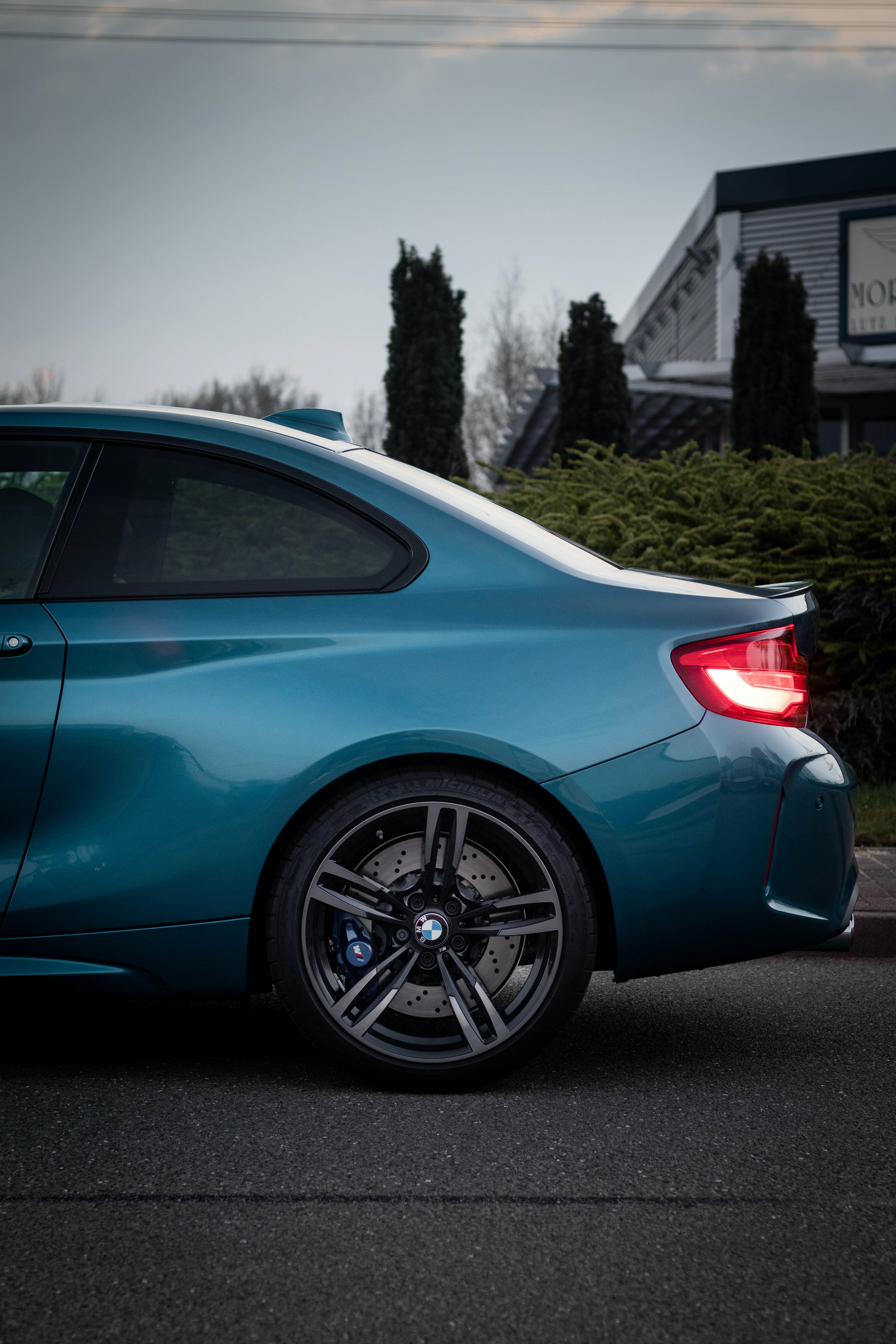 blue coupe