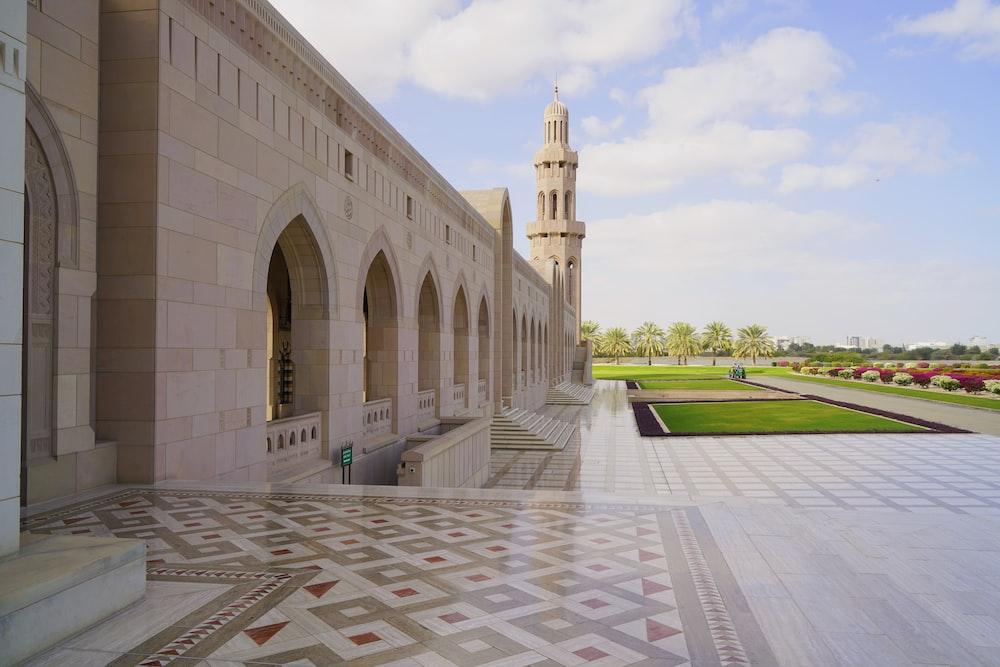 beige concrete palace