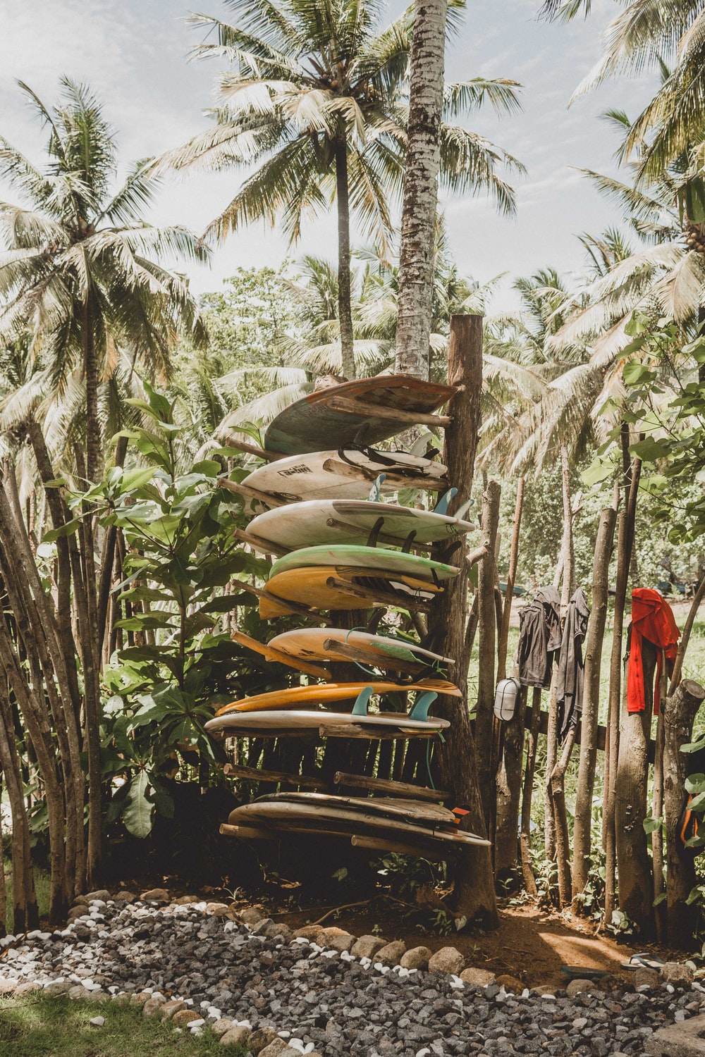 surfboards on rack