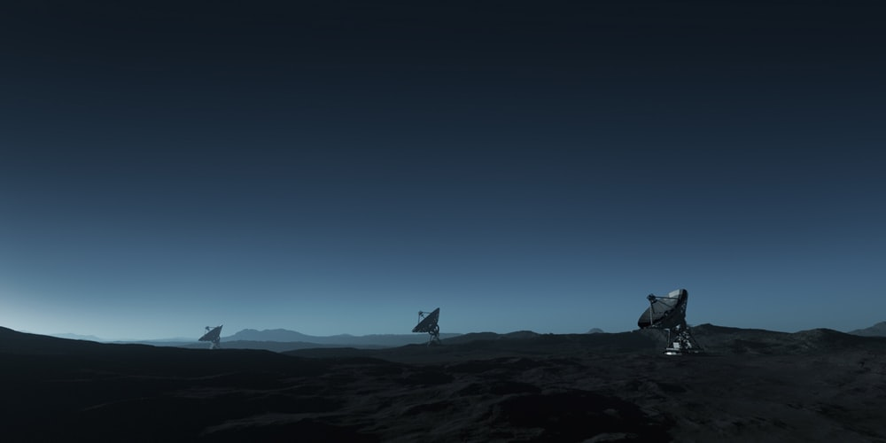 three gray satelites