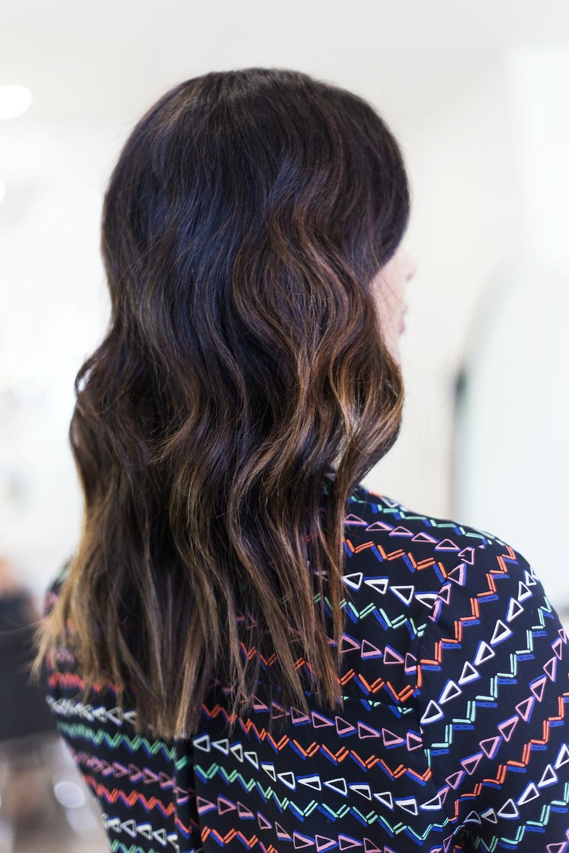 woman in brown curly hair