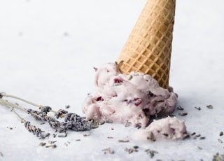 ice cream on white surface
