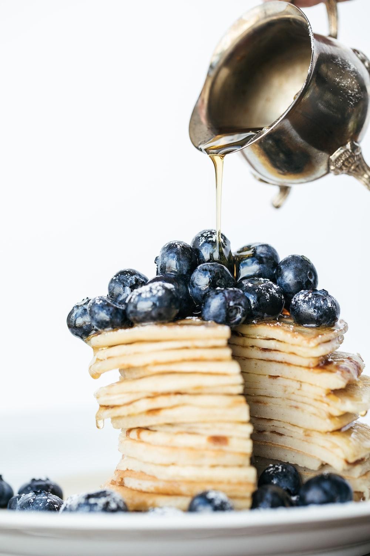 blueberries on pancake