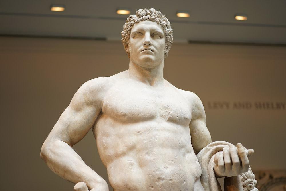 male concrete statue