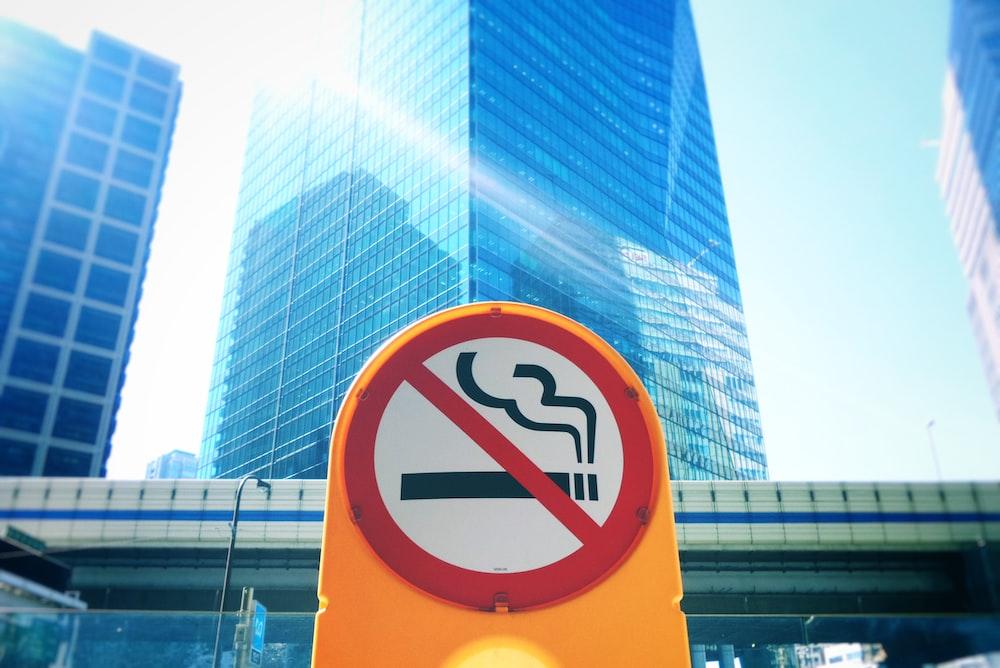 no cigarette signage