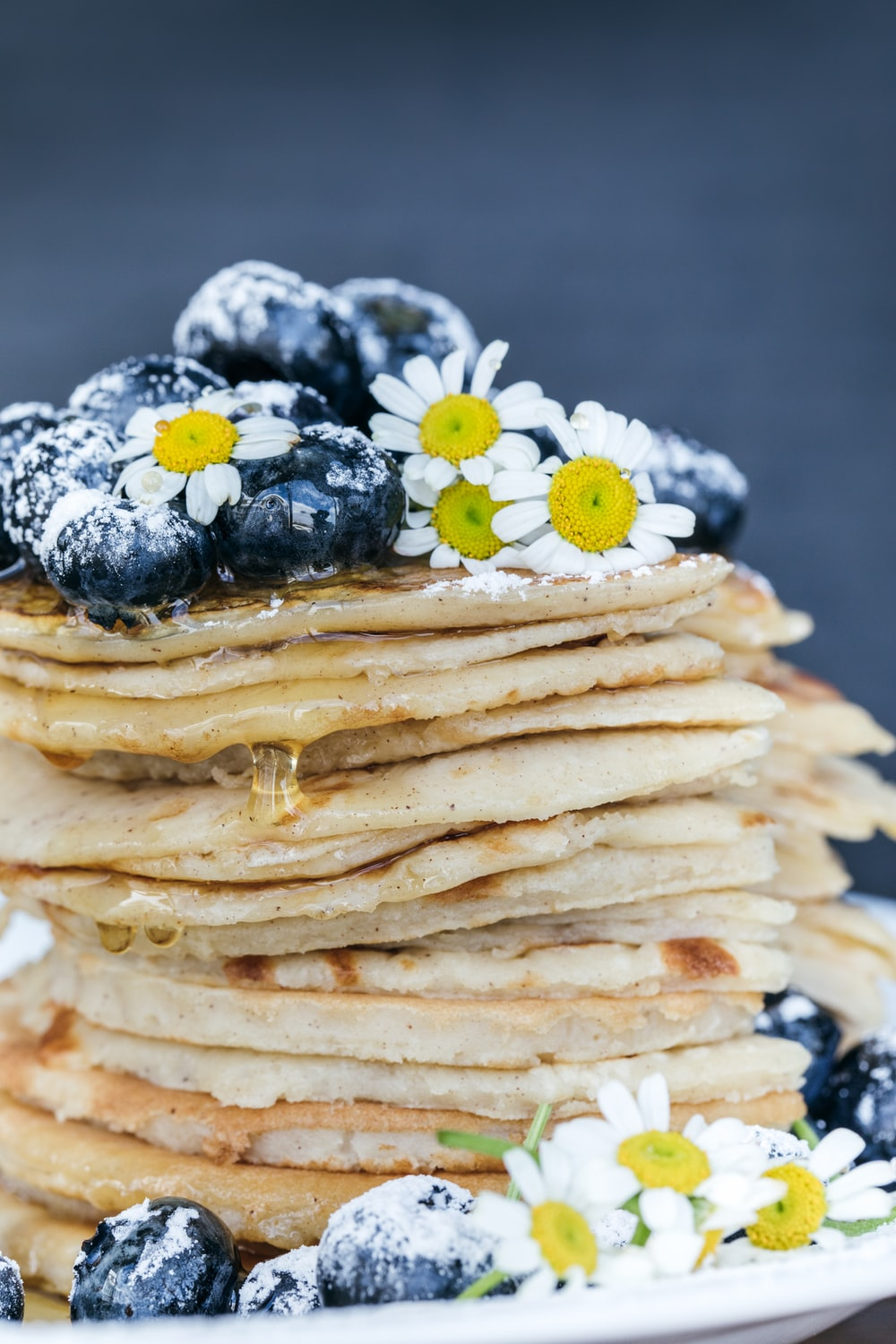 pancake with blueberry toppings