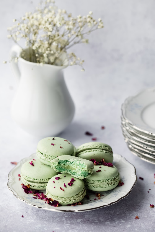 baked cookies in plate