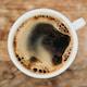 black coffee in white ceramic mug