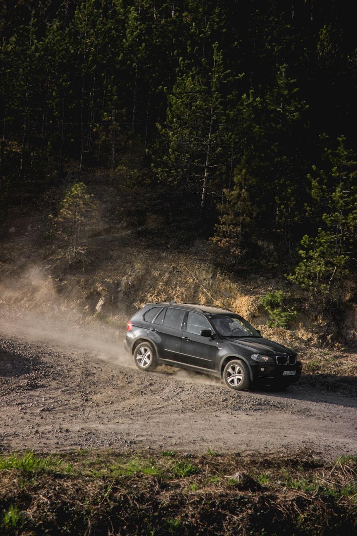 black BMW 5-door hatchback