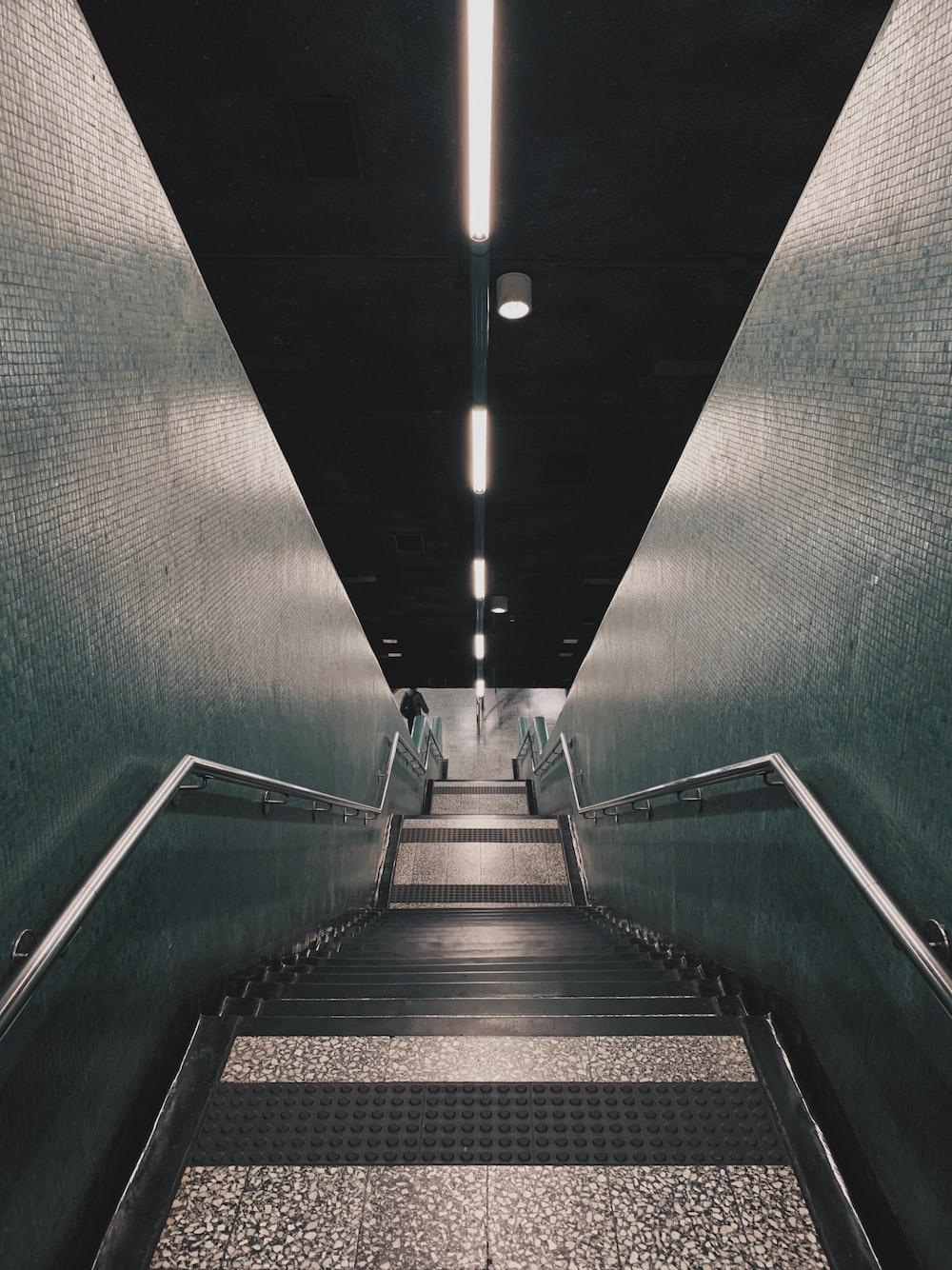 empty concrete stairs