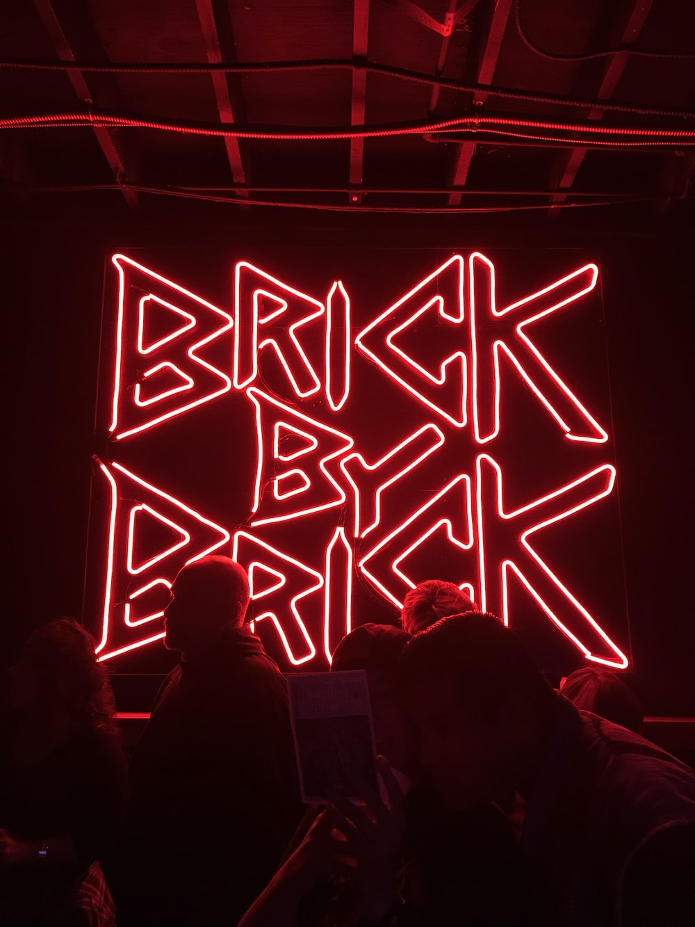 Brick by Brick LED signage