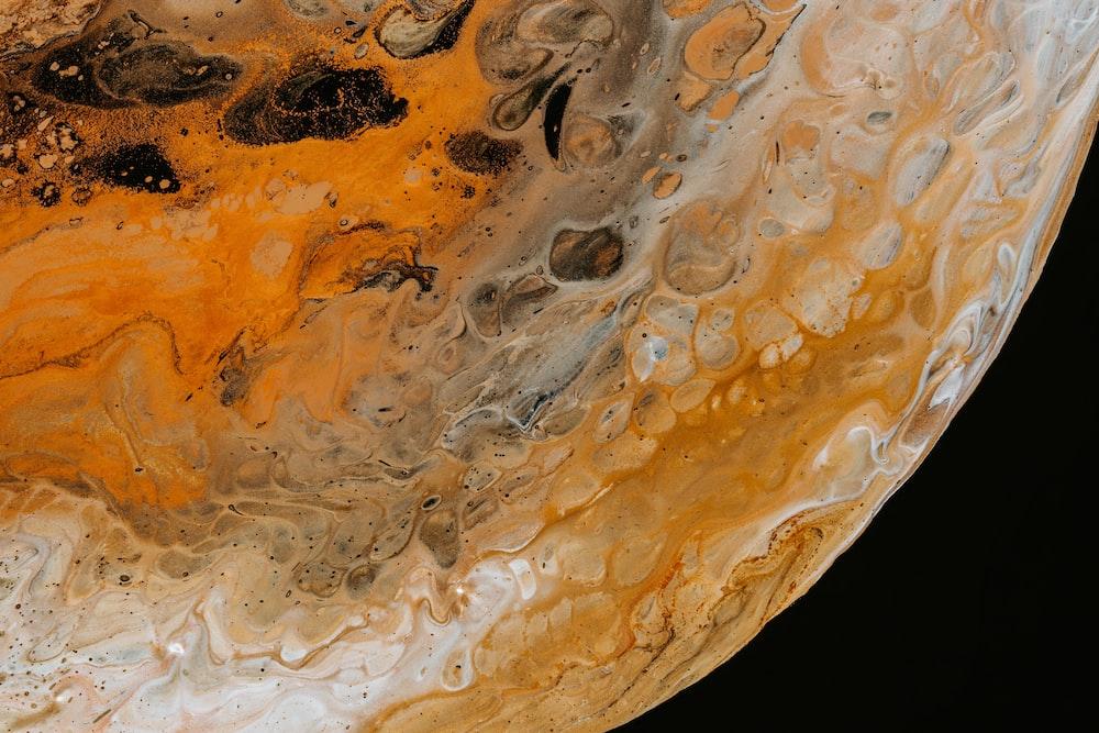 closeup photography of planet