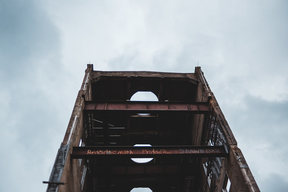 brown metal and concrete structure
