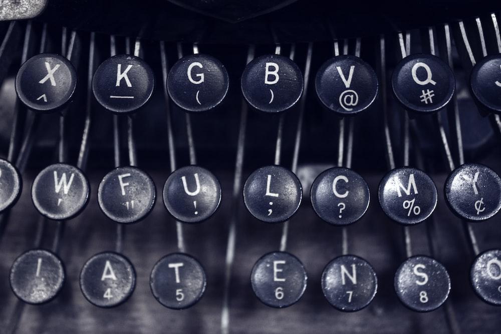 type writer keys