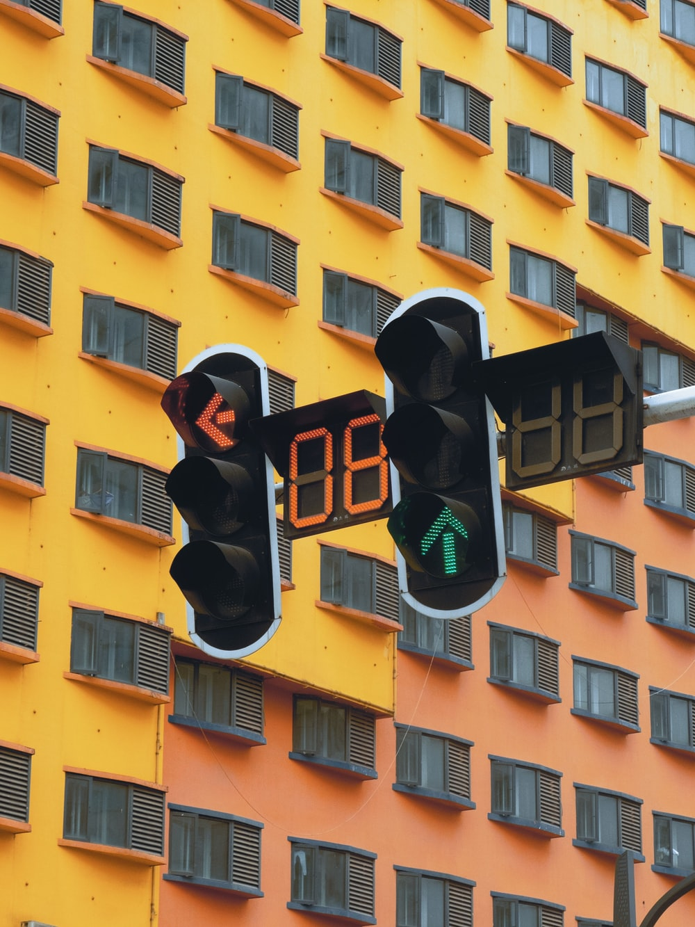 two traffic lights