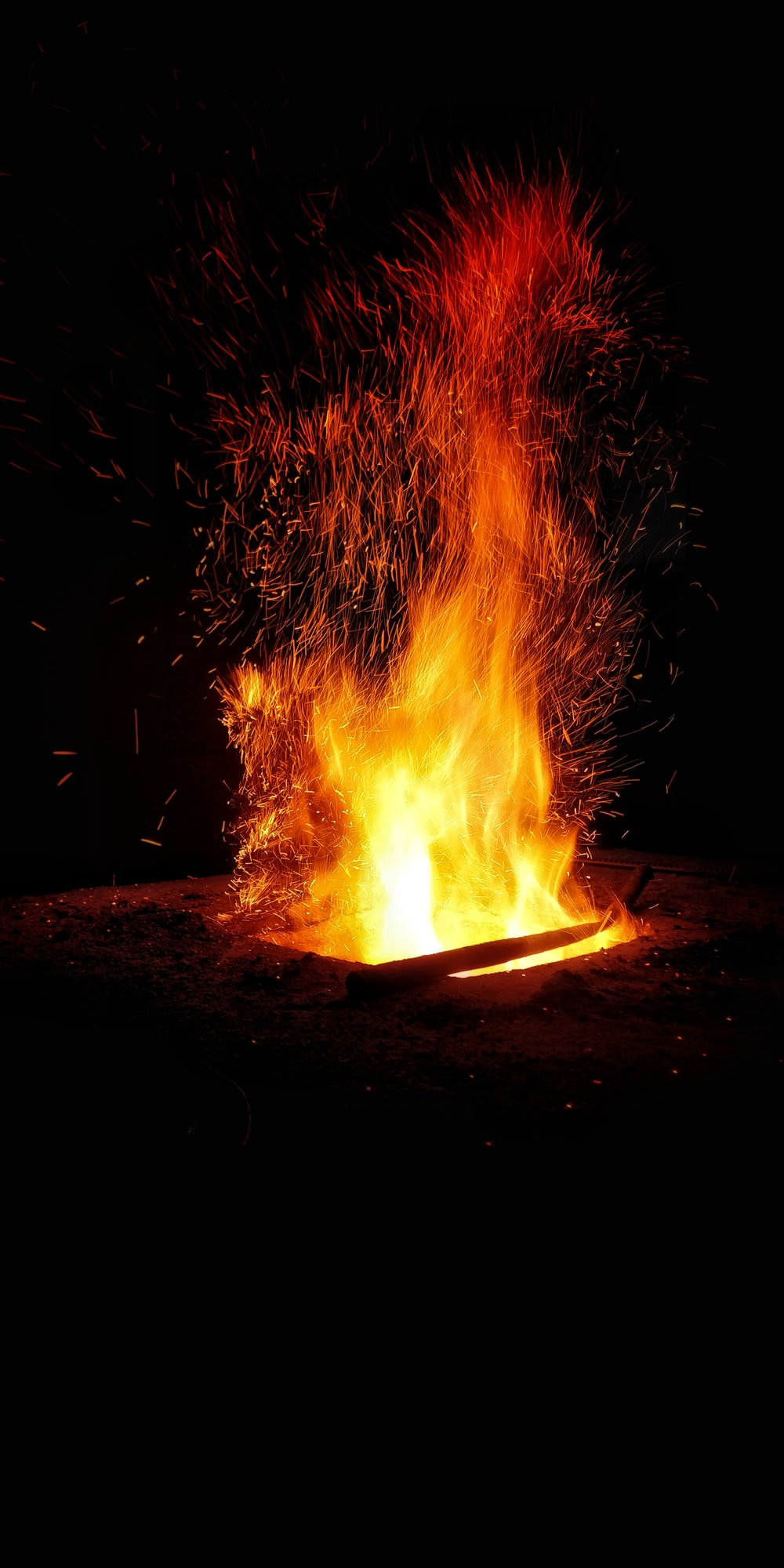 bonfire at night time