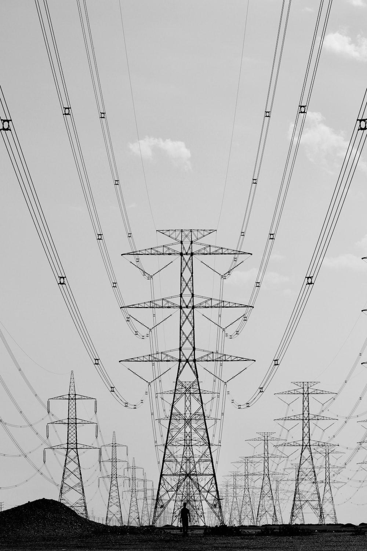 black electric posts
