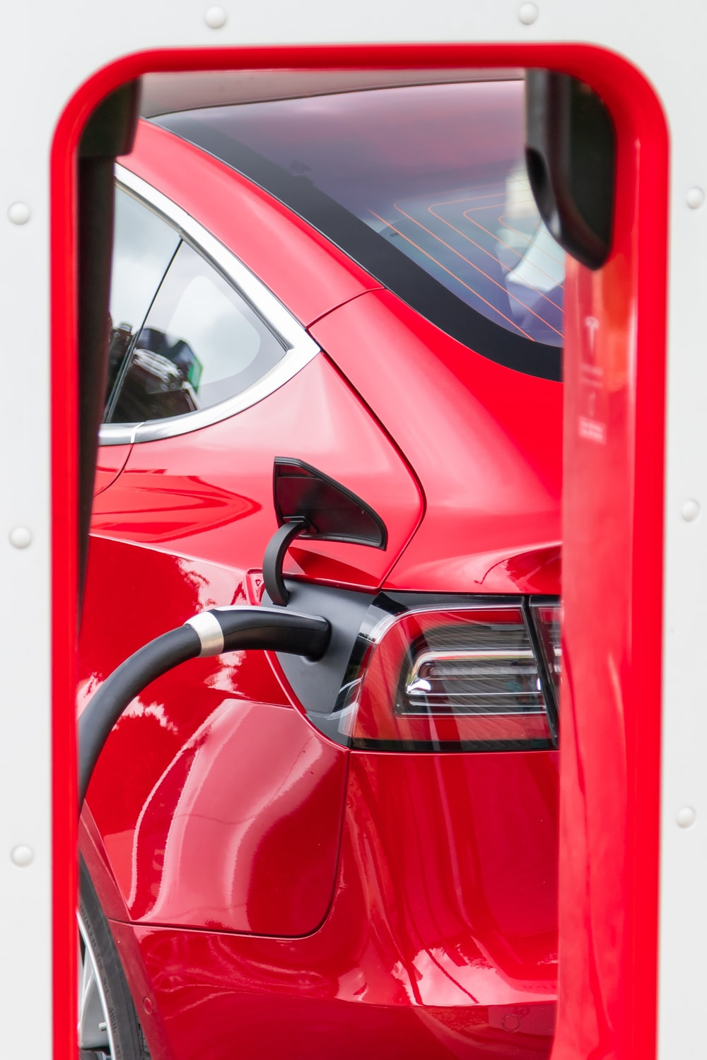 red car refuelling
