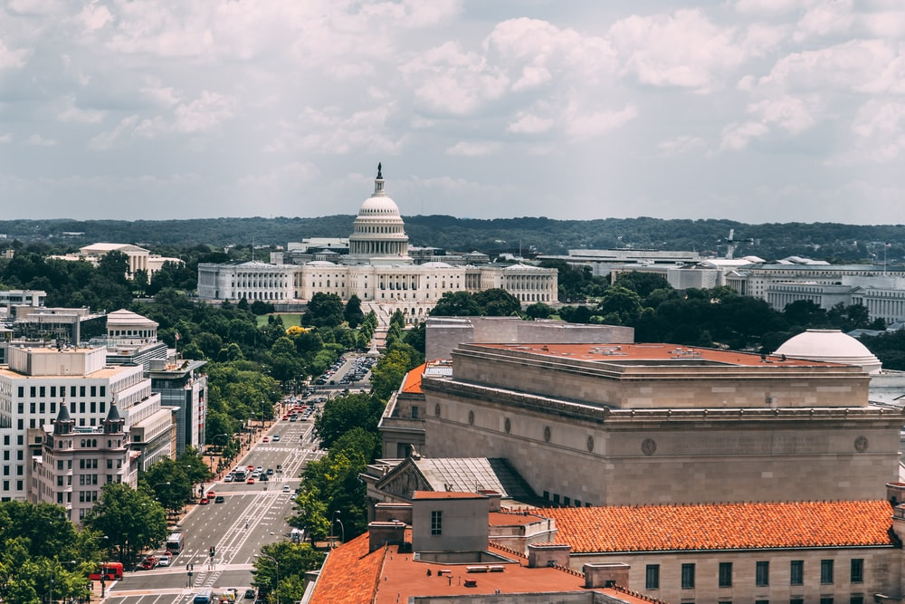 white domed government building