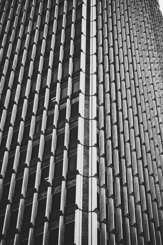black concrete building in closeup photo