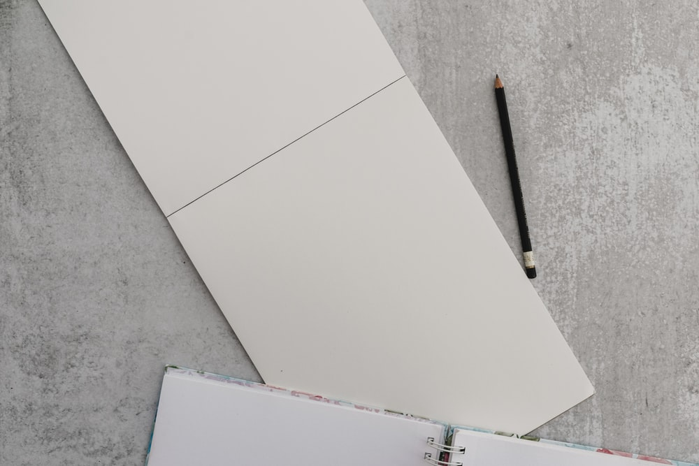 white drawing book