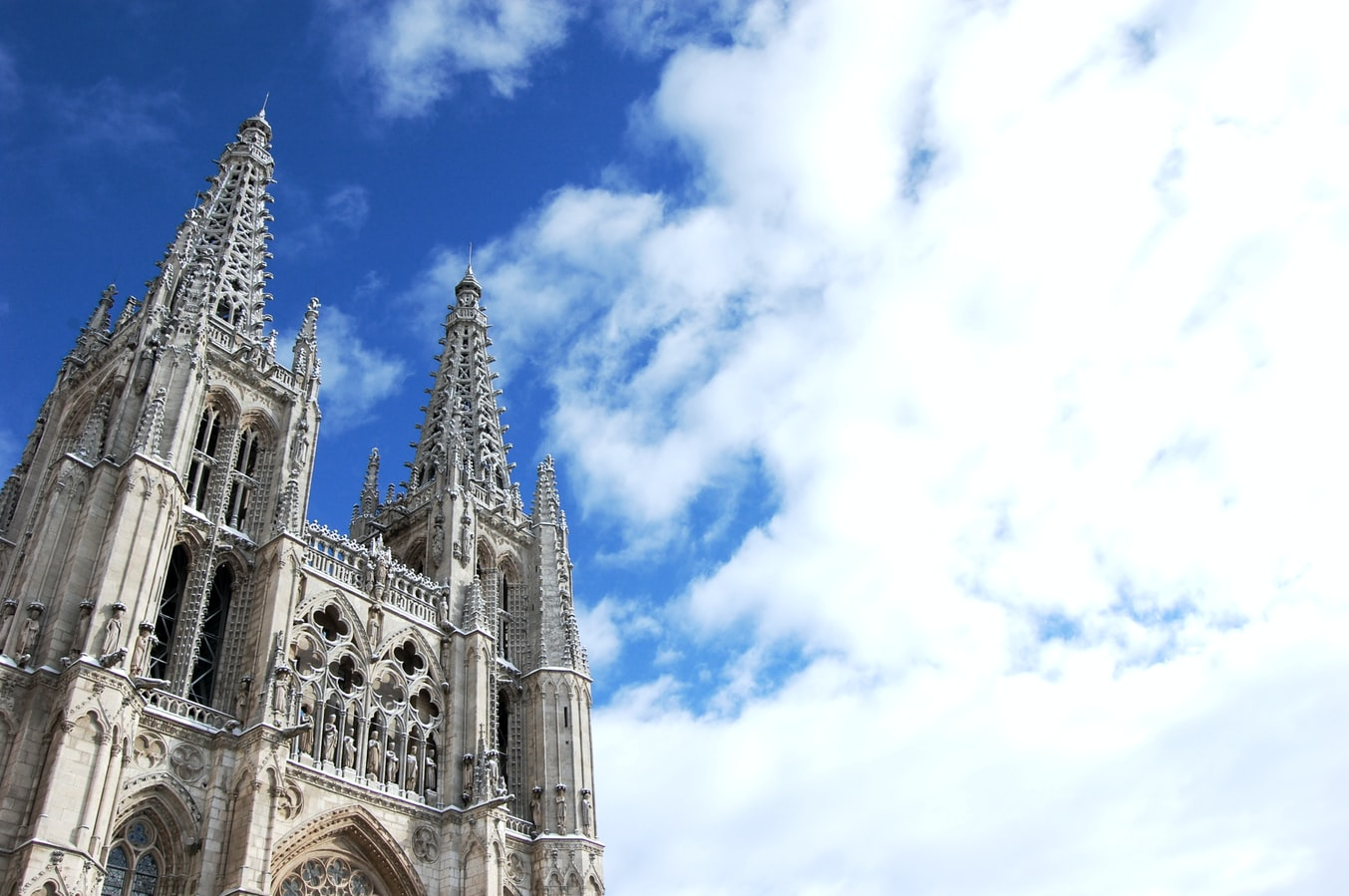 a cathedral in Burgos, Spain
