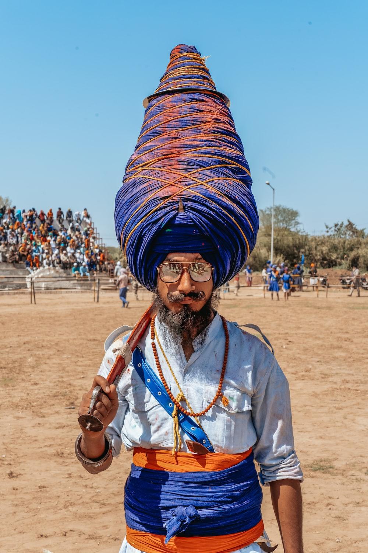 man in blue turban