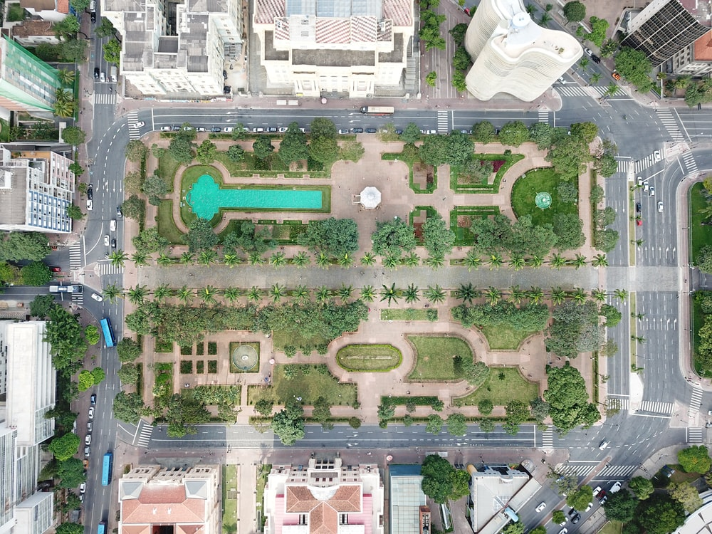 aerial photography of green field during daytime