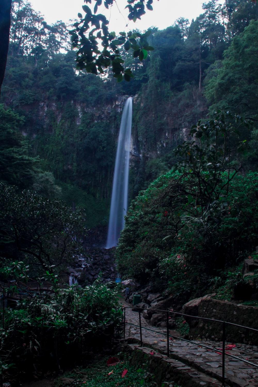waterfall close-up photography