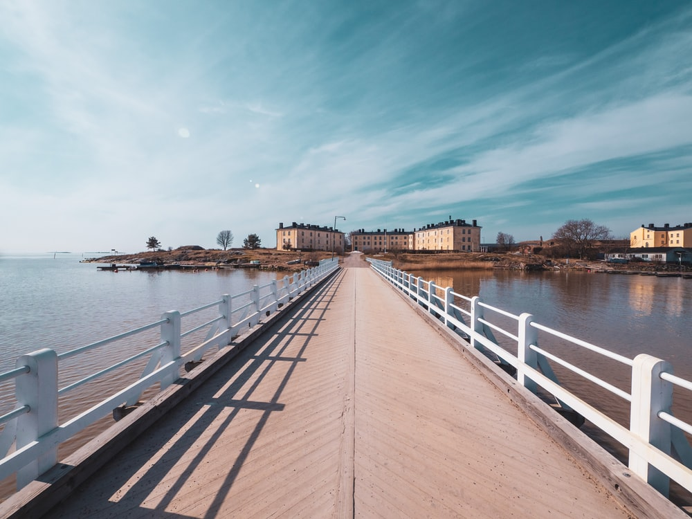 pier in front of buildings