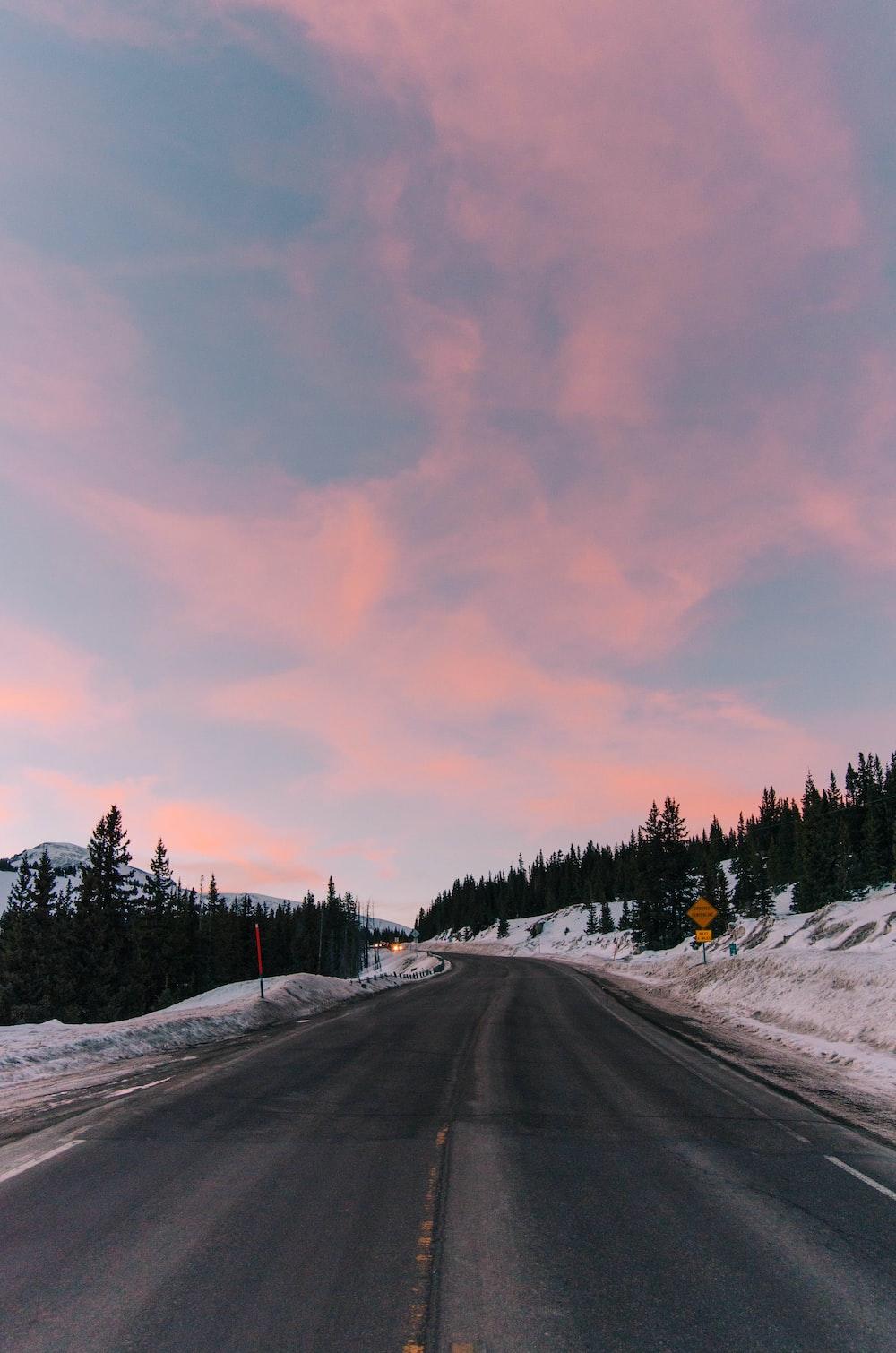 road between snows