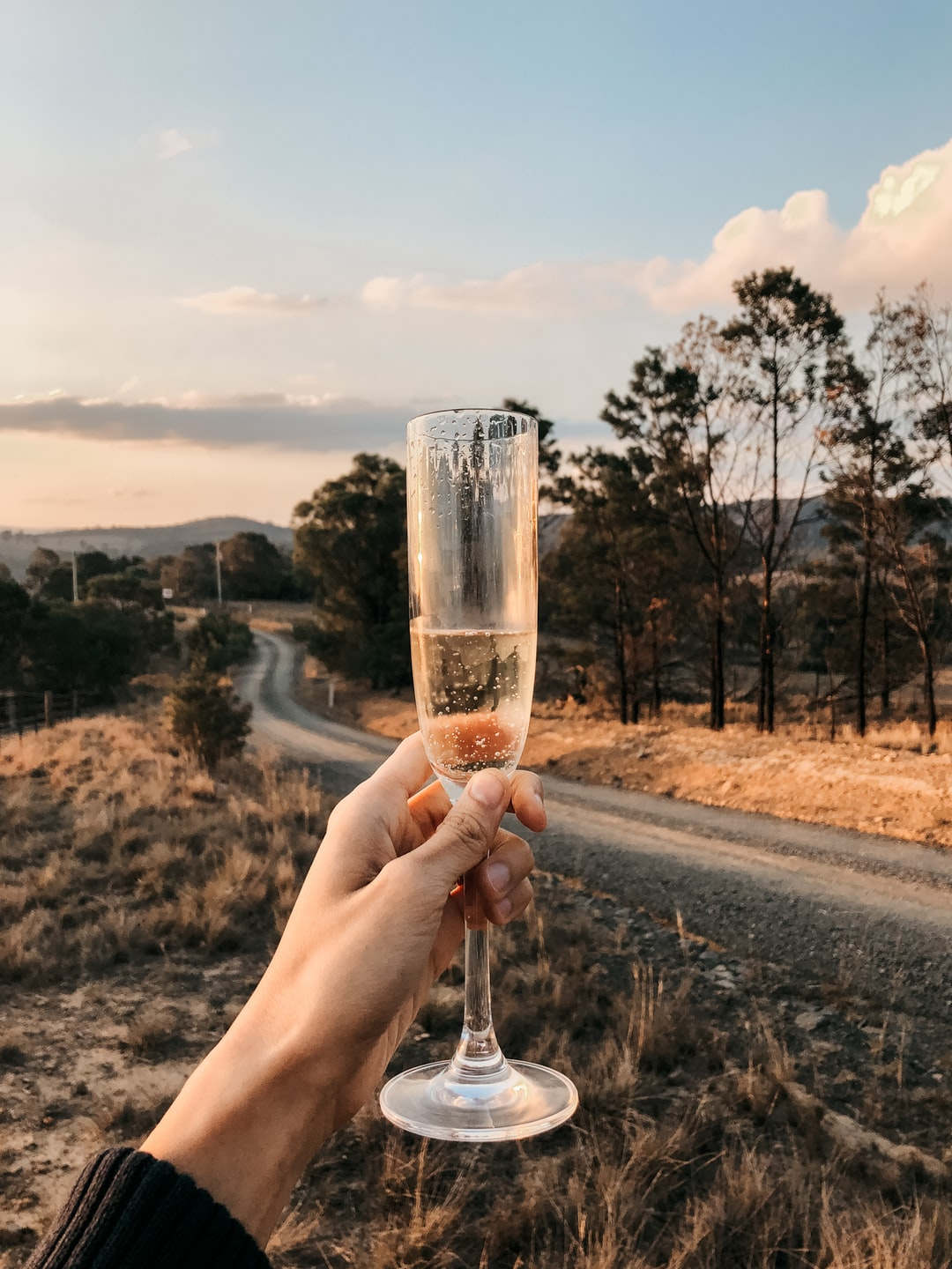 Celebrating a friend's birthday with champagne in a beautiful and rural part of NSW, Australia.