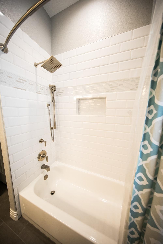 white empty bathroom