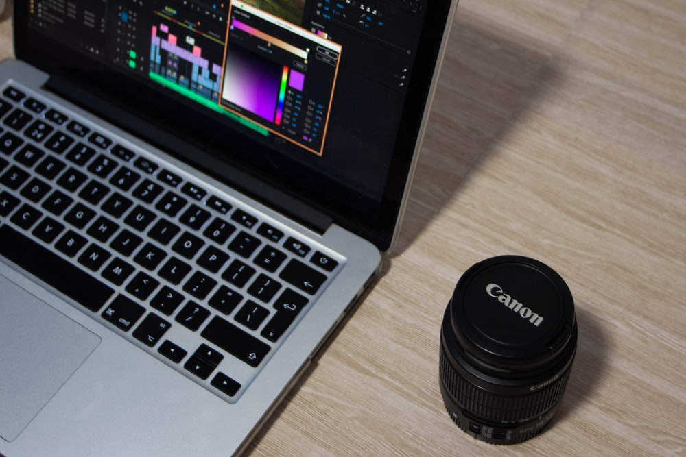 MacBook Pro displaying Photoshop