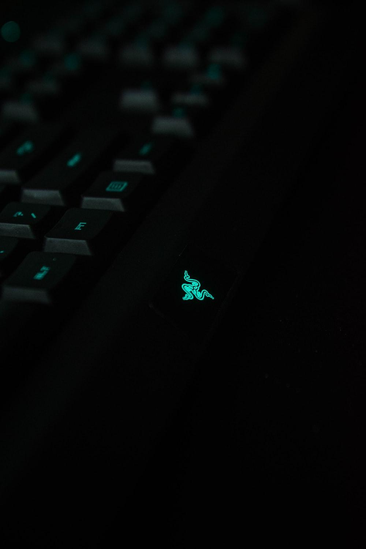 black Razer keyboard