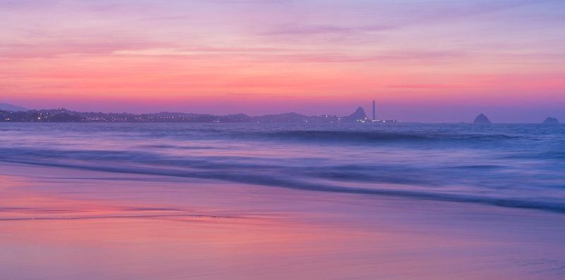 Sunset coastal scence