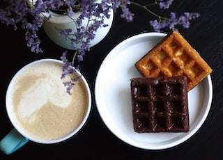 waffles on white ceramic plate