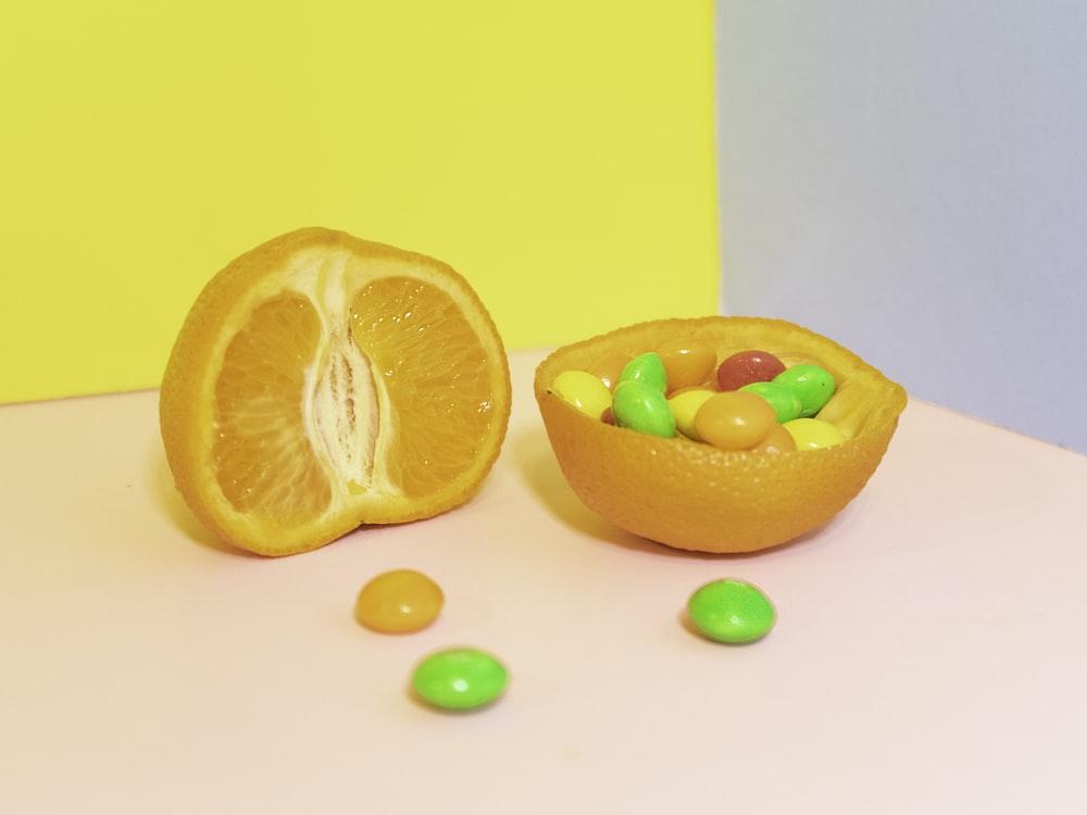 orange fruit close-up photography