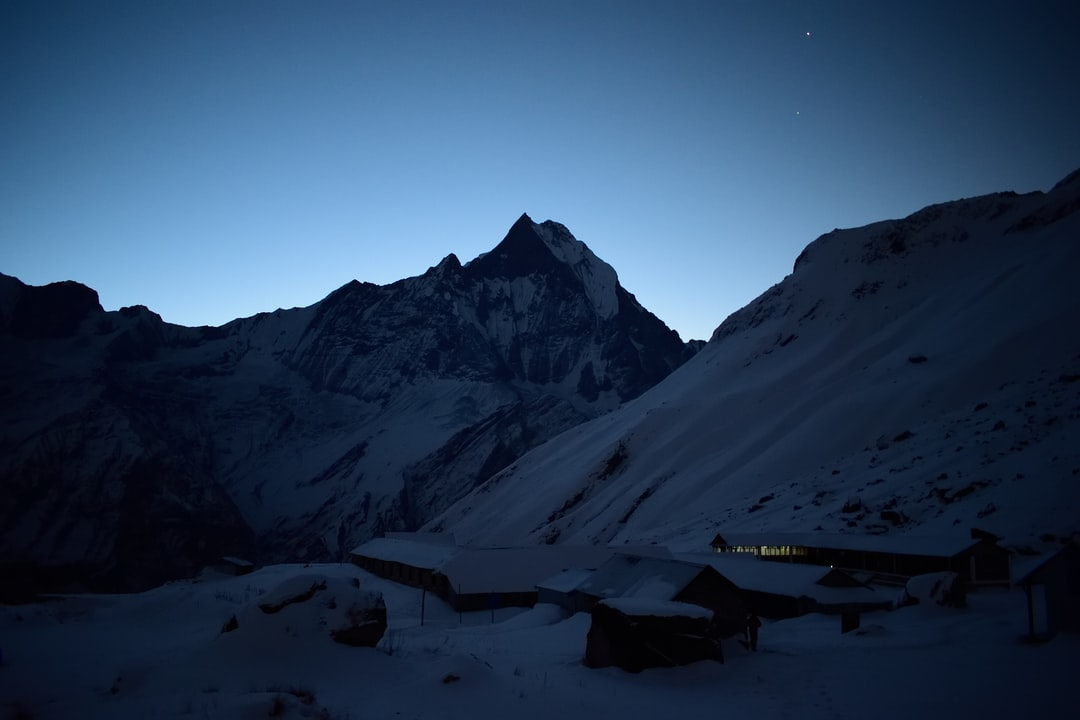 Machhapuchchhare is incredible beautiful mountain. It is holy mountain in Nepal Himalayas. It is also known as Fishtail Mountain because it looks like fishtail.  Nobody has ever climbed this moungain till the day.