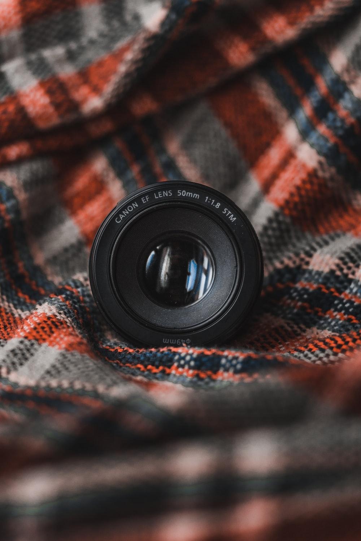 black camera lens