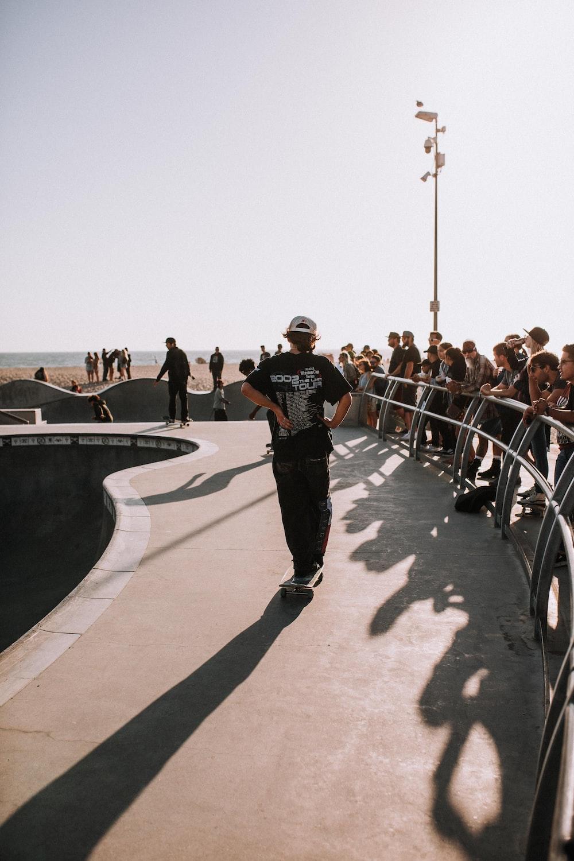 men doing skateboard tricks