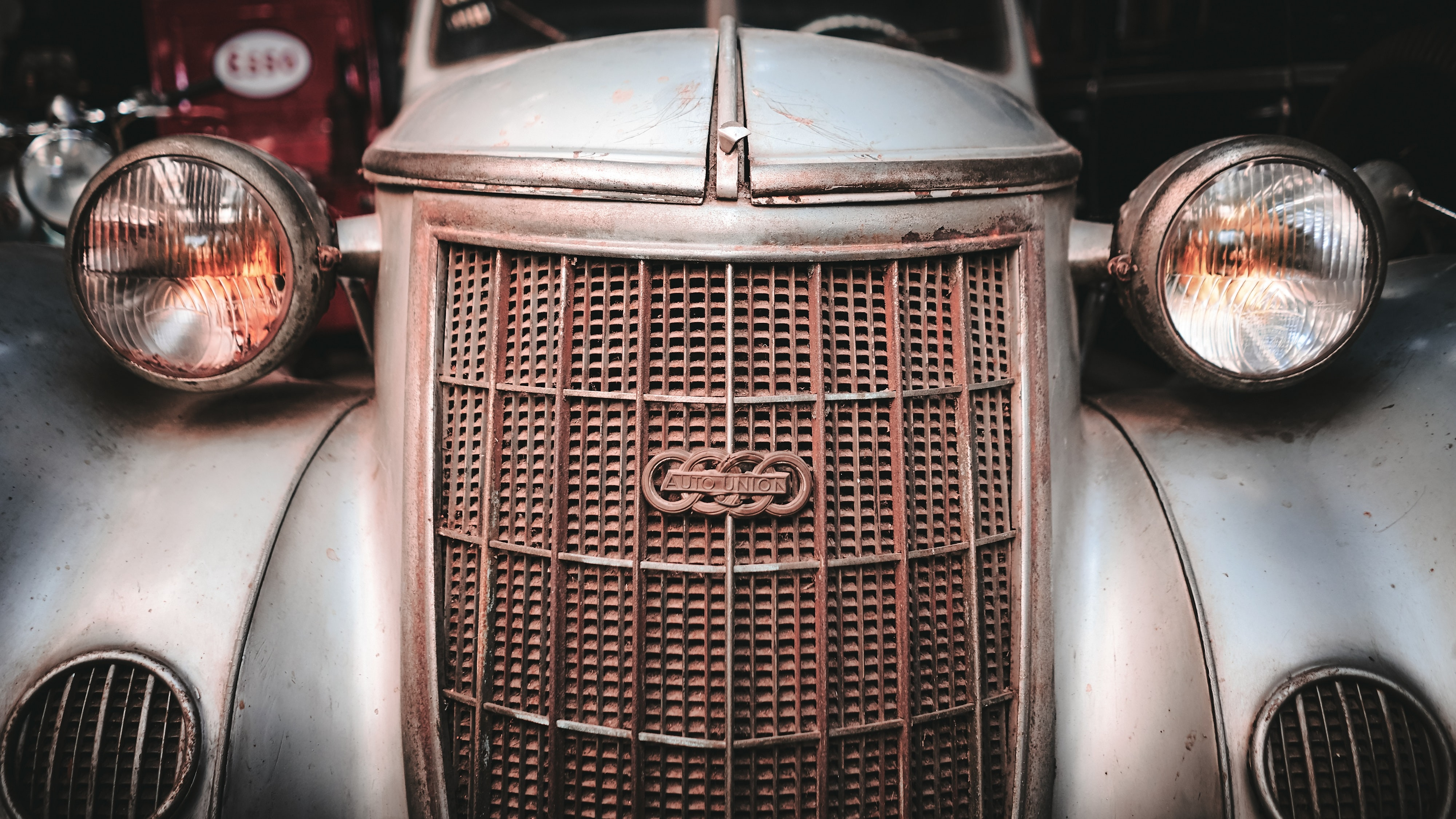 classic silver vehicle